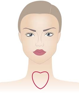 heart shape neckline