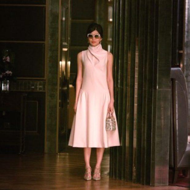 Gemma Chan in pink